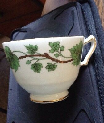 Crown Staffordshire  Green Ivy  Tea Cup