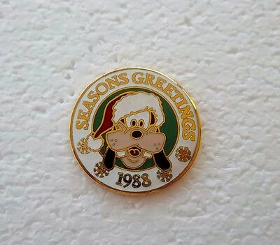 *~*disney Cast Exclusive Season's Greetings 1988 Goofy Ret. Pin*~*