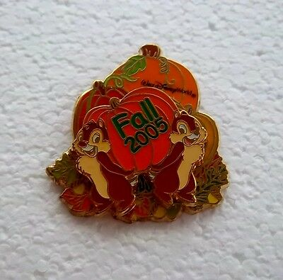 *~*disney Wdw Fall 2005 Chip & Dale With Pumpkins 3D Le Pin*~*