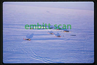 Original Slide, Aerial Army Bell UH-1D Iroquois Helicopters in Antarctica, 1968