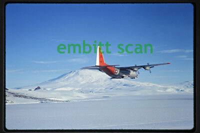 Original Slide, Air-to-Air Navy VX-6 Lockheed LC-130F Hercules, 1968 Antarctica