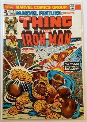 MARVEL FEATURE # 12, (1st SERIES / THING / IRON MAN / STARLIN ART / 1973 )