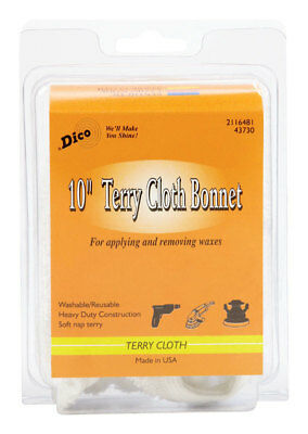 "NEW! DICO Terry Cloth Bonnet 10""  58443730"