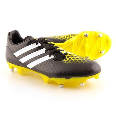 adidas Incurza SG Men's Rugby Boots Soft Ground Removable Studs Black Yellow