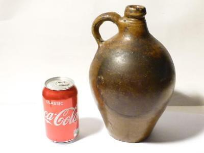 Antique 17-18thC English Brown Glaze Stoneware Wine Bottle Bellarmine Type
