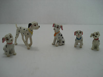 101 Dalmatians Lot Of 5 Plastic Dog Figures