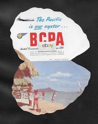 Bcpa Australia The Pacific Is Your Oyster Dc-6 Waikiki Beach Oyster Brochure