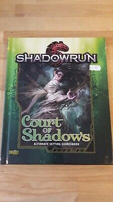 RPG Shadowrun Court of Shadows Hardback book in mint condition