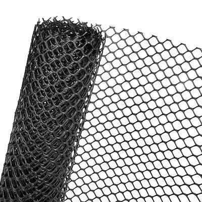 Grass Protection Mesh 1,3M x 656 ft Mesh 30mm Protective Grille in Black