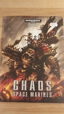 Warhammer 40K Codex Chaos Space Marines softback in mint condition