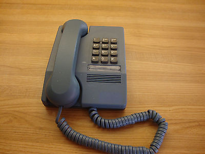 Vintage Blue Harmony Northern Telecom Desk Telephone Made In Canada