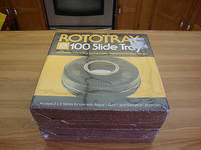 2 Rototray 100 Slide Tray Accepts 2X2 Slide For Use With Argus Gaf & Sawyers .