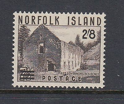 NORFOLK ISLAND 1960 2/8d on 7½d SURCHARGE, Mint Never Hinged
