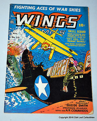 Wings 39 Fiction House Comic Book 1943 Fine-VF