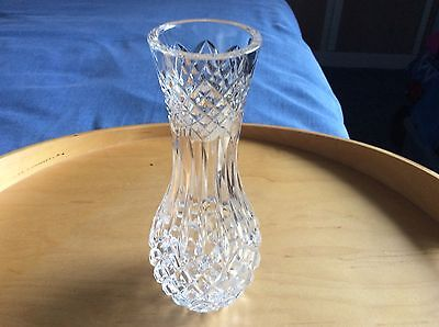 "Tyrone Crystal LISBURN Vase 7"" Tall  Stamped - VGC NO BOX"