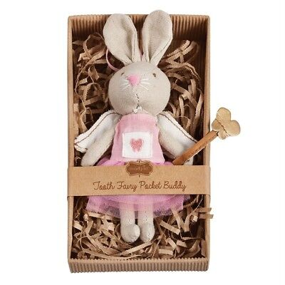 Mud Pie Baby Girl Pink Tooth Fairy Plush Bunny Tutu