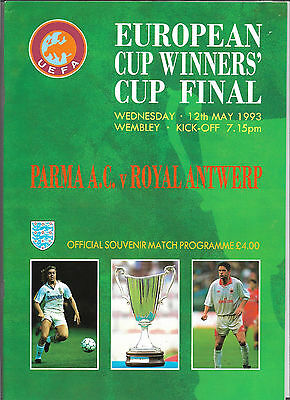 1993 European Cup Winners Cup Final - PARMA v. ROYAL ANTWERP
