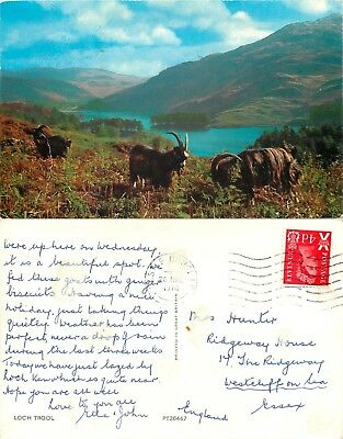 a1065 Loch Trool, Scotland postcard posted 1970 stamp