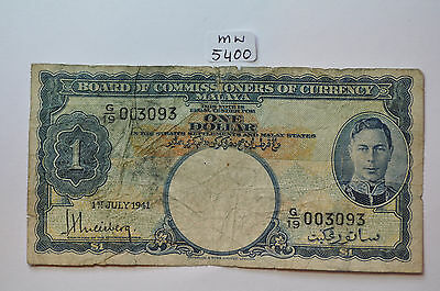 mw5400 Malaya; Dollar 1st July 1941  KNB11