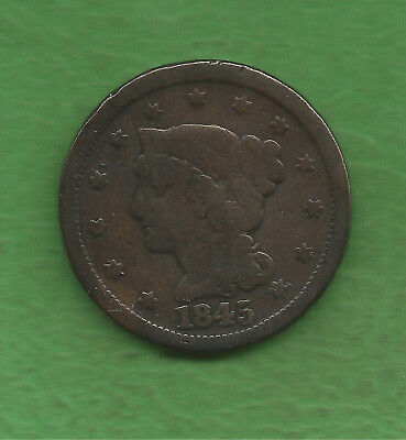 1845 Braided Hair, Large Cent - 172 Years Old!!!