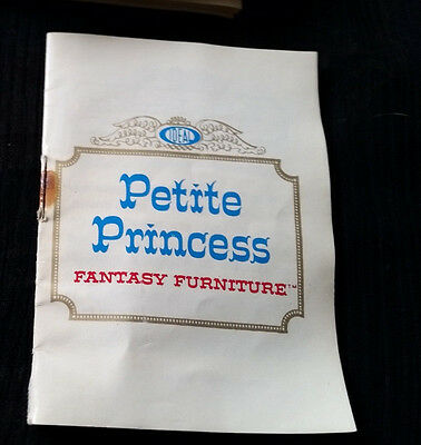 "Vintage 1964 Booklet for PETITE PRINCESS ""Fantasy Furniture"" made by IDEAL Japan"