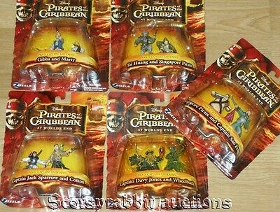 NEW SEALED Pirates Caribbean World's End 5 ACTION FIGURE SETS 10 Characters