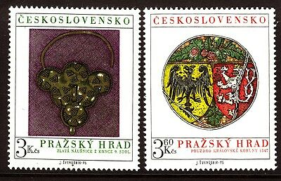 Czechoslovakia 1975 Prague Castle set - Mint Hinged
