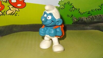 Smurfs Pupil Smurf Student Orange Backpack 20103 1979 Vintage Display Figurine