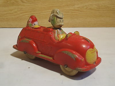 "Antique 1930's SUNRUCO Viceroy ""MICKEY MOUSE FIRE TRUCK"" DISNEY Donald Duck"