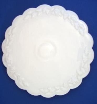 Westmoreland Paneled Grape Milk Glass Low Cake Stand Plate