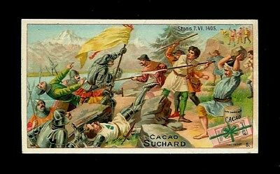 2 Historic Swiss Battles (Stoss Pass & Nafels)-2 Victorian Trade Cards-SALE