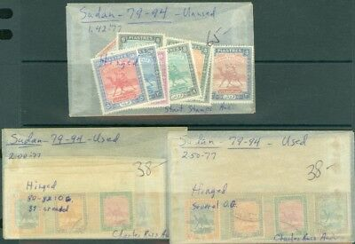 EDW1949SELL : SUDAN 1948 Stanley Gibbons #96-111. 1 set Mint OGH. 2 sets Used.