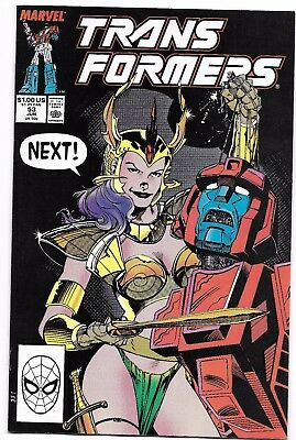 Transformers 53 VF Early Jim Lee Cover Autobots Decepticons Mecannibals 1989