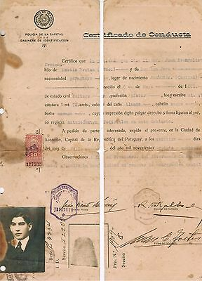 Paraguay 1924 Document with Revenue