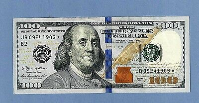 2009 Fr 2184-B STAR New York $100 Crisp Uncirculated Replacement Note