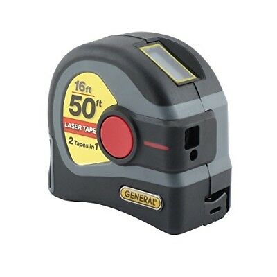 General Tools LTM1 Laser Tape Measure 50ft 10x Faster 2x Further Laser LCD Meter