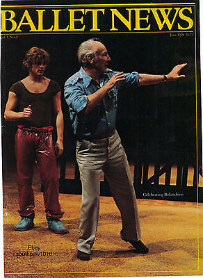 "1979 George Balanchine ""Ballet News"" ""Celebrating Balanchine' Magazine Cover"