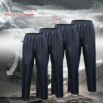 Waterproof Rain Over Trousers Overtrousers Mens  Ladies Working Camping Fishing