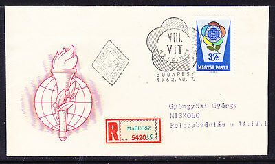 Hungary 1962 Youth Festival - REGISTERED  R5420 First Day Cover