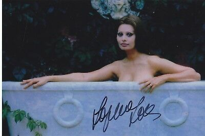 Sophia Loren Movie Legend Very Rare Sexy Signed Photo Coa