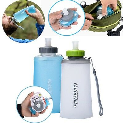 500 750ml Silicone Folding Water Bottle Outdoor Gym Sport Soft Cup Running