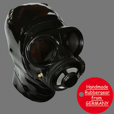 Latex Rubber Gum Studio Gas Mask - Latexmaske Gasmaske - custom made - k2