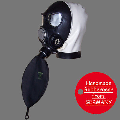 Latex Rubber Gum Studio Gas Mask - Latexmaske Gasmaske - custom made - p2