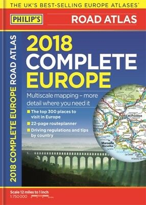 Philips Complete Road Atlas Europe 2018, 9781849074230