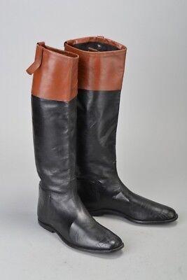 Point To Point Racing Mahogany Topped Glace Leather 1920s' Riding Boots. CHH