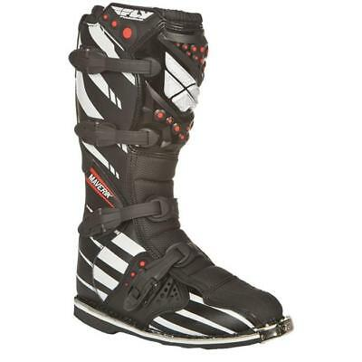Fly Motocross Stiefel - Maverik Schwarz/Weiß Motocross Enduro MX Cross