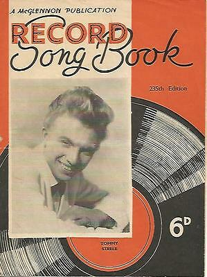*** Tommy Steele *** Three Fifties Song Book Magazines