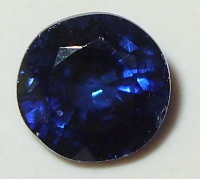 2.67ct Beautiful Top Quality Nepal Ink Blue Kyanite Round Cut SPECIAL