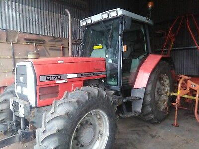 Massey Ferguson 6170 Dynashift tractor 1555hrs front linkage + PTO