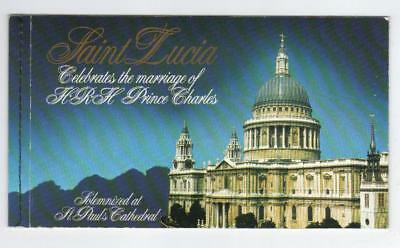 St Lucia 1981 Royal Wedding Self-Adhesive Booklet